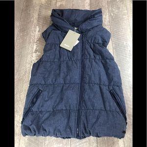 Bench Trap Gilet Dress Blue Marled Vest Size L